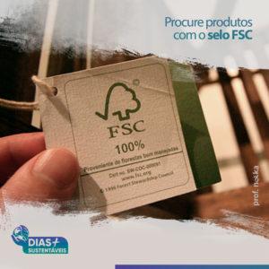 Procure produtos com o selo FSC