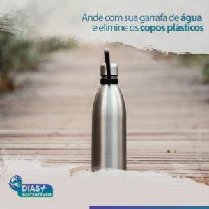 Ande com sua garrafa de água e elimine os copos plásticos